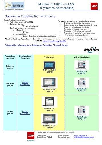 Gamme de Tablettes PC semi durcie - achats-publics.fr