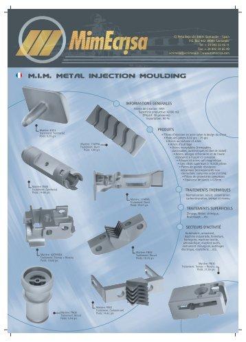 m.i.m. metal injection moulding - ecrimesa.fr