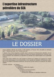 DOSSIER - l'expertise infrastructure pétrolière