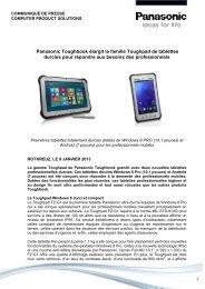 Panasonic Toughbook élargit la famille Toughpad de tablettes ...
