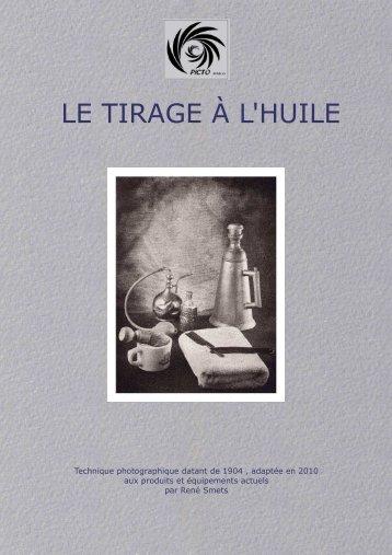 Le Tirage à l'Huile - René Smets (pdf) - Picto Benelux