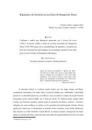 Figurações do feminino na escritura de Marguerite Duras - Fale