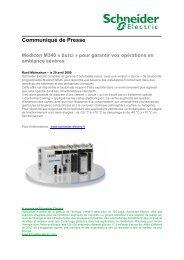 Communiqué de Presse Modicon M340 « durci - Schneider Electric