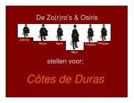 Côtes de Duras - Commanderij Osiris