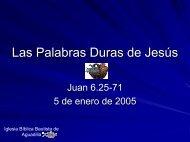 Las Palabras Duras de Jesús - Iglesia Biblica Bautista de Aguadilla ...