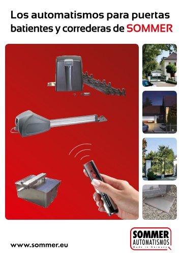 Los automatismos para puertas batientes y correderas de SOMMER