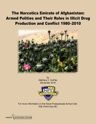 The Narcotics Emirate of Afghanistan - Tribal Analysis Center