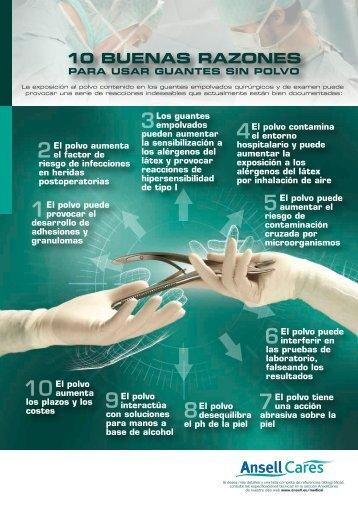10 BUENAS RAZONES PARA USAR GUANTES SIN POLVO