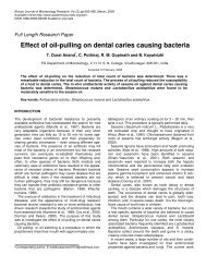 Effect of oil-pulling on dental caries causing bacteria - Academic ...