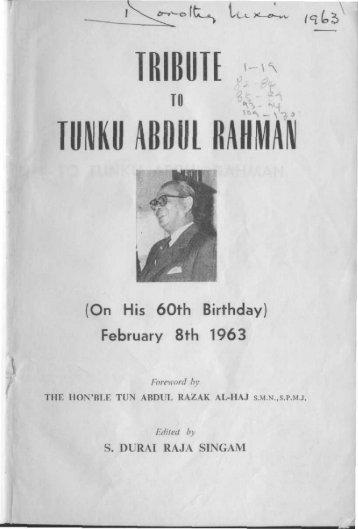 TRIBUTE ABDUL - Perdana Library