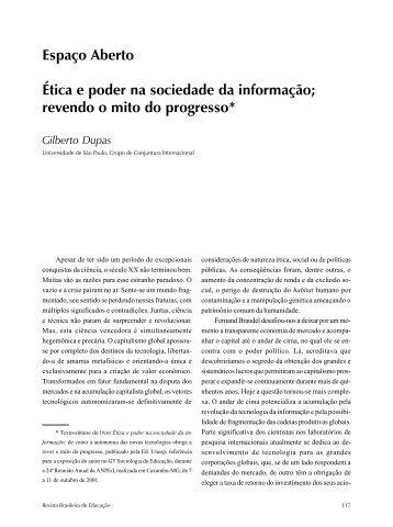 Espaço Aberto Ética e poder na sociedade da informação ... - ANPEd