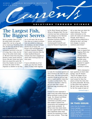 Spring 2006 Newsletter - Hubbs Sea World Research Institute