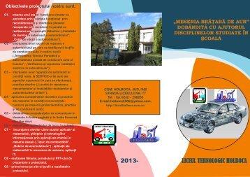 aici - Liceul Tehnologic Holboca - uCoz