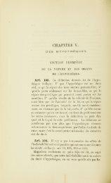 CHAPITRE V. • DES HYPOTHÈQUES. SECTION PREMIÈRE. DE LA ...