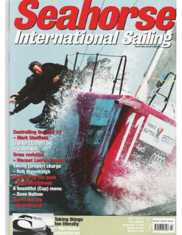 Read the article in Seahorse magazine featuring ... - Evolution Sails