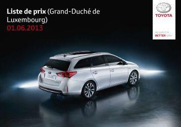Liste de prix (Grand-Duché de Luxembourg) 01.06.2013 - Toyota