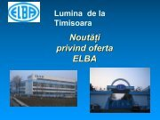 Lumina de la Timisoara - produse noi - CONTROL TRADING SRL