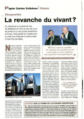 Roquette - Visite de la plus grande bioraffinerie d'Europe