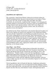 Jugendliche und Anglizismen - jannis androutsopoulos