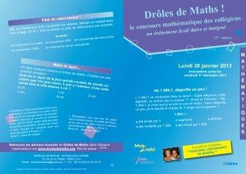 Drôles de Maths ! - Concours Integral