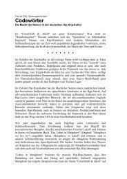 Codewörter (FAZ) - jannis androutsopoulos