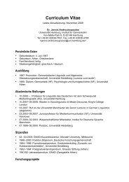 Curriculum Vitae - jannis androutsopoulos