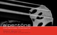 Musikprogramm 2013 (als PDF-Download) - Alpentöne