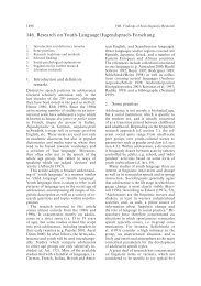 146. Research on Youth-Language/Jugendsprach-Forschung