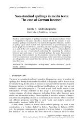 Non-standard spellings in media texts - jannis androutsopoulos
