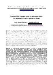 Code-Switching in der bilingualen Chat-Kommunikation - Institut für ...
