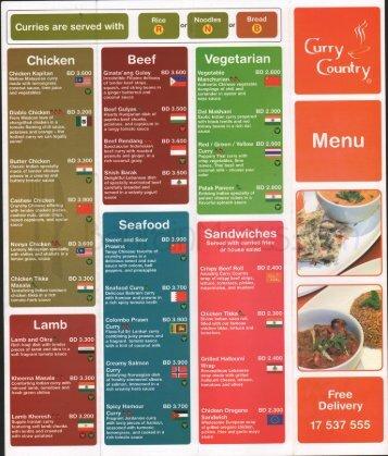 View menu pdf - Bahrain Menus