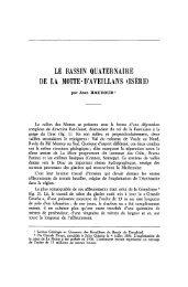 le bassin quaternaire de la motte-daveillans (isère) - Revue de ...