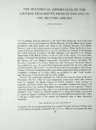 THE HISTORICAL IMPORTANCE OF THE CHINESE ... - British Library