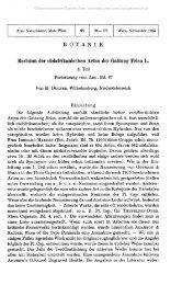 BOTANIK Revision der südafrikanischen Arten der Gattung Erica L.