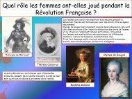 Quel rôle les femmes ont-elles joué pendant la Révolution Française ?