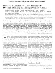 Mutations in Complement Factor I Predispose to Development of ...