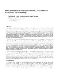 New Developments in Polyisocyanurate Laminate Foam - Huntsman