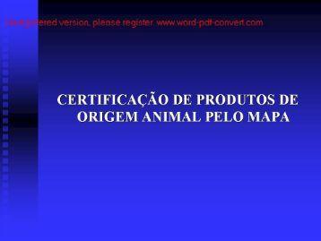 CERTIFICAÇÃO DE PRODUTOS DE - UFSM