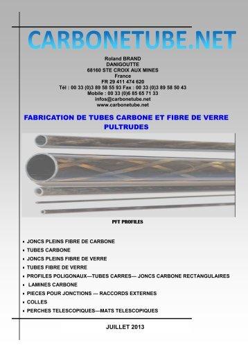 fabrication de tubes carbone et fibre de verre pultrudes - Carbonetube