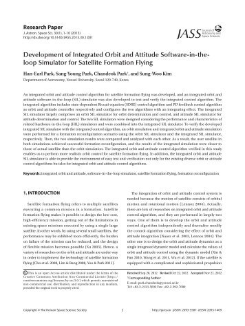 Development of Integrated Orbit and Attitude Software-in-the- loop ...