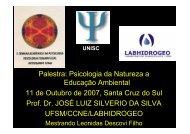 Palestra: Psicologia da Natureza a Educação Ambiental 11 ... - UFSM