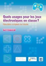 Quels usages pour les jeux électroniques en classe ? - Games in ...