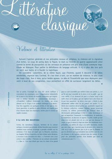 Violence et littérature (PDF, 960 ko) - WebLettres