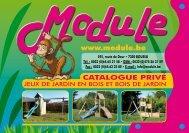 Catalogue privé - Jeux de jardin en bois - Mobilier de ... - Module