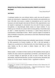 desafios da pedologia brasileira frente ao novo milênio(1) - UFSM