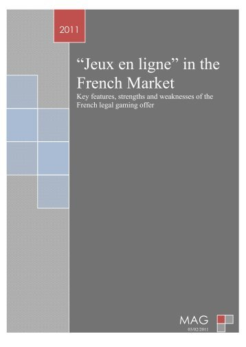 """Jeux en ligne"" in the French Market"