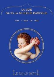 Programme du concert La joie dans la musique baroque