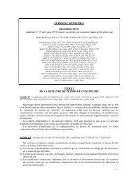 VERSION CONSOLIDEE DELIBERATION modifiée n ... - Province sud
