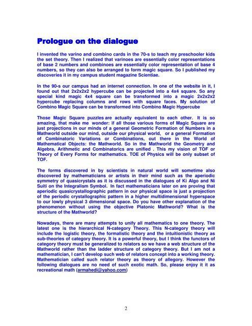 Prologue Prologue