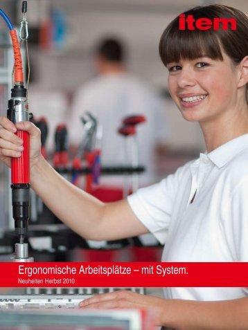 Ergonomische Arbeitsplätze – mit System.